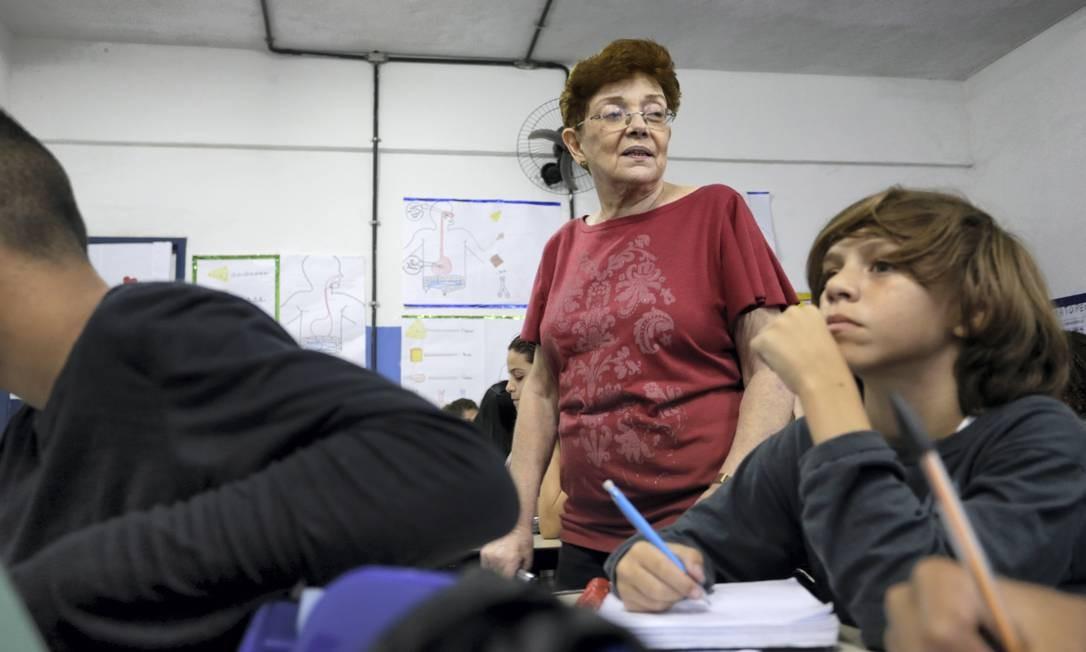 Syldea Duarte Pinto também tem 71 anos Foto: Roberto Moreyra / Agência O Globo