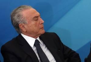O presidente Michel Temer Foto: Givaldo Barbosa / Agência O Globo 23/08/2017
