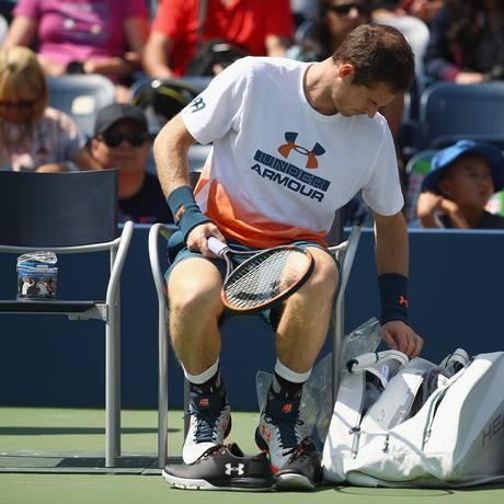 Andy Murray durante treino em Nova York neste sábado Foto: CLIVE BRUNSKILL / AFP