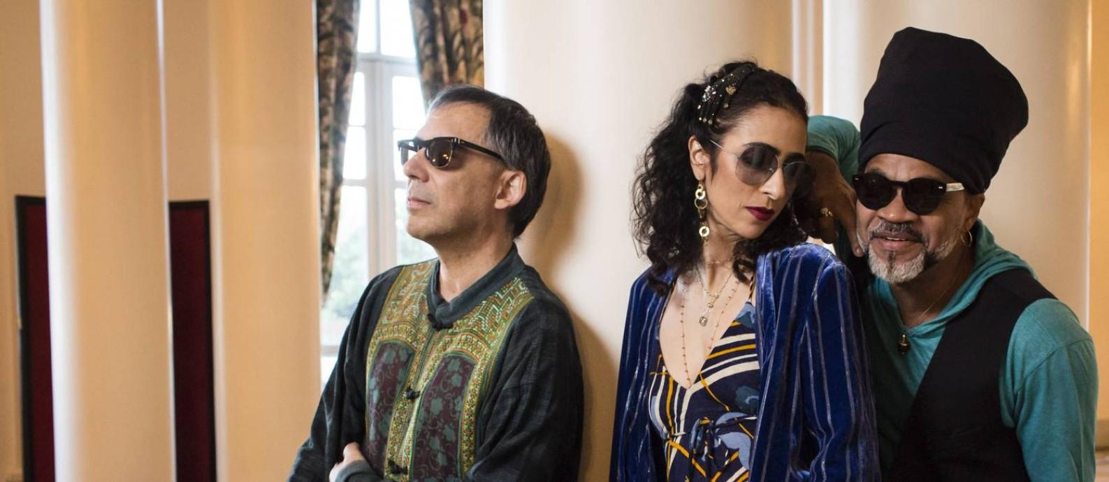 Tribalistas: Arnaldo Antunes, Marisa Monte e Carlinhos Brown Foto: Fernando Lemos / Agência O Globo