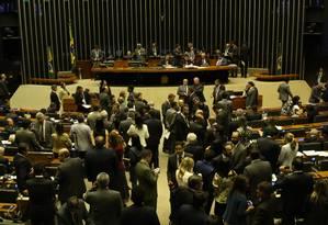 Debate. Câmara dos Deputados, durante discussão sobre a reforma política: semidistritão também não muda sistema Foto: Ailton de Freitas/23-8-2017