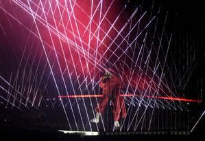 Kendrick Lamar durante sua performance no palco do MTV Video Music Awards 2017 Foto: Chris Pizzello / Chris Pizzello/Invision/AP