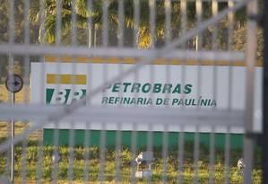 Refinaria Replan da Petrobras em Paulinia, interior de São Paulo Foto: Agência O Globo