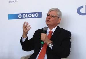O procurador-geral da República Rodrigo Janot durante o evento E agora, Brasil?, organizado pelo GLOBO Foto: Adriana Lorete /O Globo