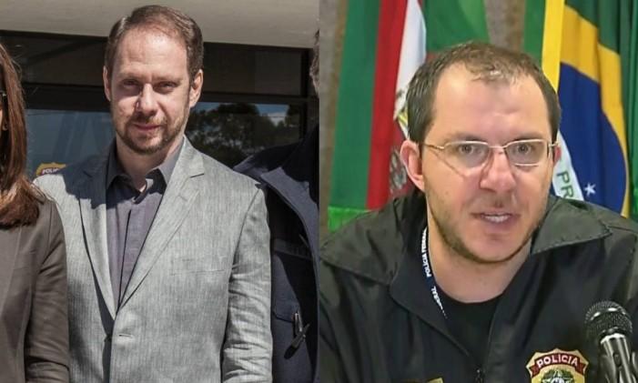 Bruce Gomlevsky e o delegado Márcio Anselmo Foto: Reproduçao