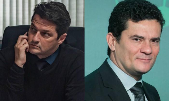 Marcelo Serrado vive o juiz Sergio Moro no filme 'Polícia Federal' Foto: Reprodução