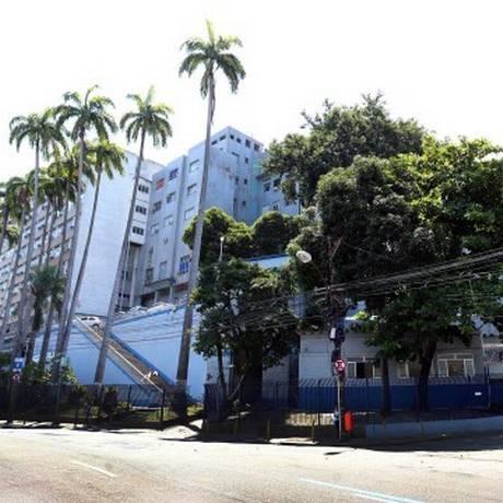 A fachada do Hospital Central da Polícia Militar, no Estácio Foto: Roberto Moreyra / Agência O Globo