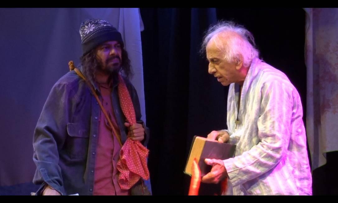 Na comédia 'Confissões de um senhor de idade', no Ziembinski, Flávio Migliaccio celebra 60 anos de carreira Foto: Divulgação / Divulgação