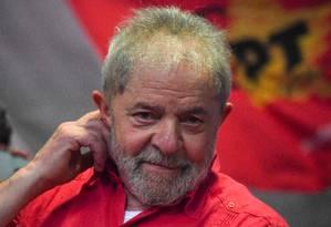 O ex-presidente Lula. 12/08/2017 Foto: APU GOMES / AFP