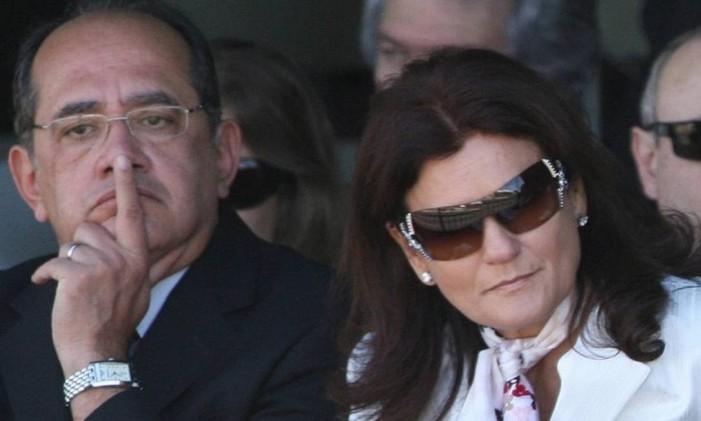 Gilmar Mendes com a mulher, Guiomar Mendes Foto: Roberto Stuckert Filho