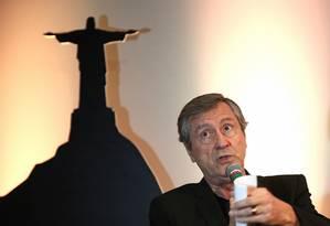 O ministro da Justiça, Torquato Jardim, durante debate sobre segurança pública no seminário 'Reage, Rio!' Foto: Julio Cesar Guimaraes / Agência O Globo