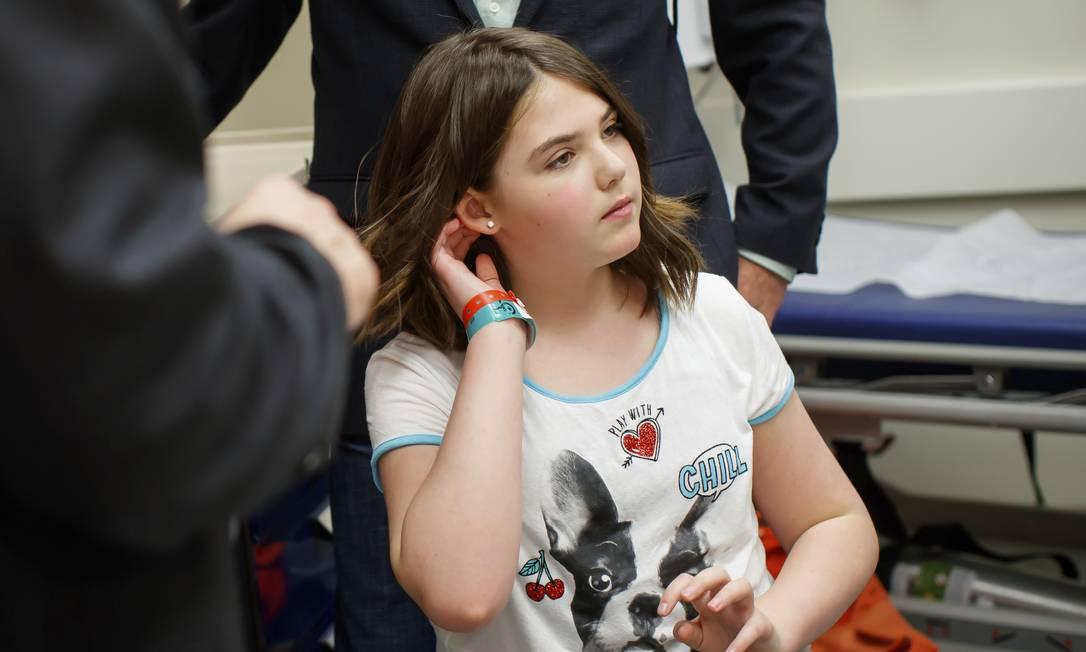Imagem fornecida pelo Hospital Infantil da Filadélfia mostra Emily Whitehead: sucesso no tratamento da menina, que estava à beira da morte em 2012, e em outros testes levaram a FDA a aprovar a terapia revolucionária Foto: AP/Children's Hospital of Philadelphia