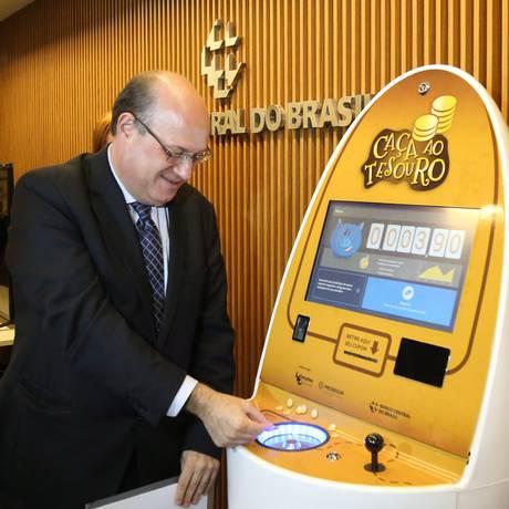 Presidente do Banco Central, Ilan Goldfajn, lança campanha nacional para incentivar a circulação de moedas no país. Foto Aílton Freitas / Agência O Globo