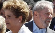 A ex-presidente Dilma Rousseff e o ex-presidente Luiz Inácio Lula da Silva em 2016 Foto: Givaldo Barbosa / Agência O Globo / 12-5-16