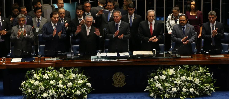 A posse de Michel Temer como presidente da República em 31 de agosto de 2016 Foto: Ailton de Freitas / Agência O Globo / 31-8-16