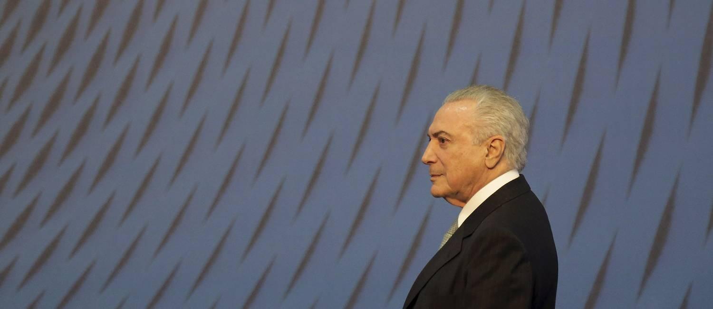 O presidente Michel Temer Foto: Gabriel de Paiva / Agência O Globo 09/08/2017
