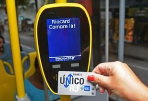 Bilhete Único: estado vai à Justiça por créditos expirados Foto: Henrique Freire / Agência O Globo