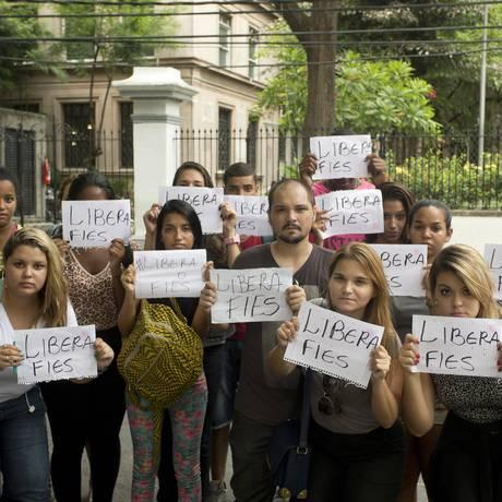 Em 2015, queda nas vagas do Fies gerou protestos em universidades privadas Foto: Márcia Foletto- Arquivo / Agência O Globo