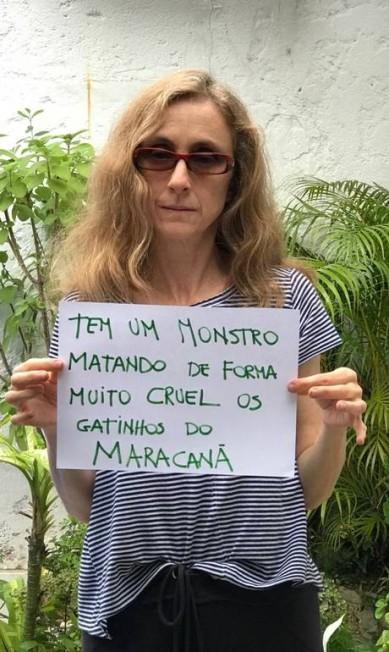 A atriz Betty Gofman iniciou uma campanha nas redes sociais com a hashtag #sosgatosmaracana Divulgação