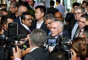 O presidente Michel Temer em viagem à China Foto: Isac Nobrega / Divulgação