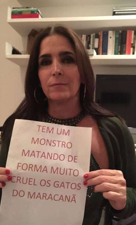 A atriz Malu Mader adere à campanha Foto: Divulgação