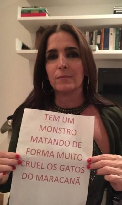 A atriz Malu Mader adere à campanha Divulgação