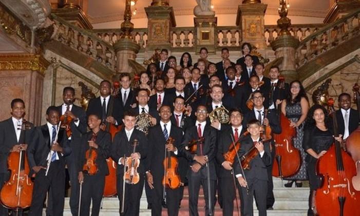 Orquestra Sinfônica Jovem do Rio de Janeiro, uma das atrações Foto: Divulgação