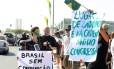 Manifestação contra a corrupção na esplanada dos ministérios durante o desfile de 7 de Setembro., em 2011. Segundo cientista político, os escândalos mostram que as instituições do país necessitam de uma reorganização geral