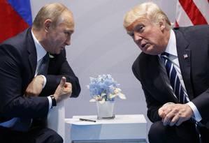 Relações entre Rússia e EUA são as mais tensas desde a Guerra Fria Foto: Evan Vucci / AP