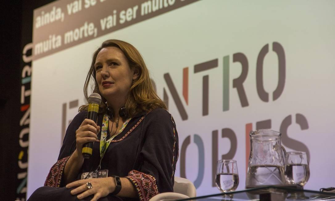 Escritora participou de bate papo com o público na XVIII Bienal do Livro Foto: Analice Paron / Agência O Globo