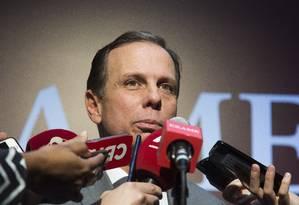 O prefeito de São Paulo , João Doria ( PSDB ) Foto: Edilson Dantas / Agência O Globo 04/09/2017