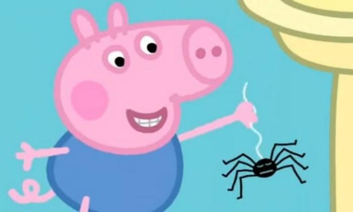 Episódio de Peppa Pig incentivaria crianças a pegar aranhas nas mãos -  Reprodução/YouTube