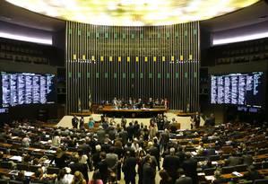 O presidente interino da Câmara, deputado André Fufuca (PP-MA), preside sessão Foto: Givaldo Barbosa / Agência O Globo