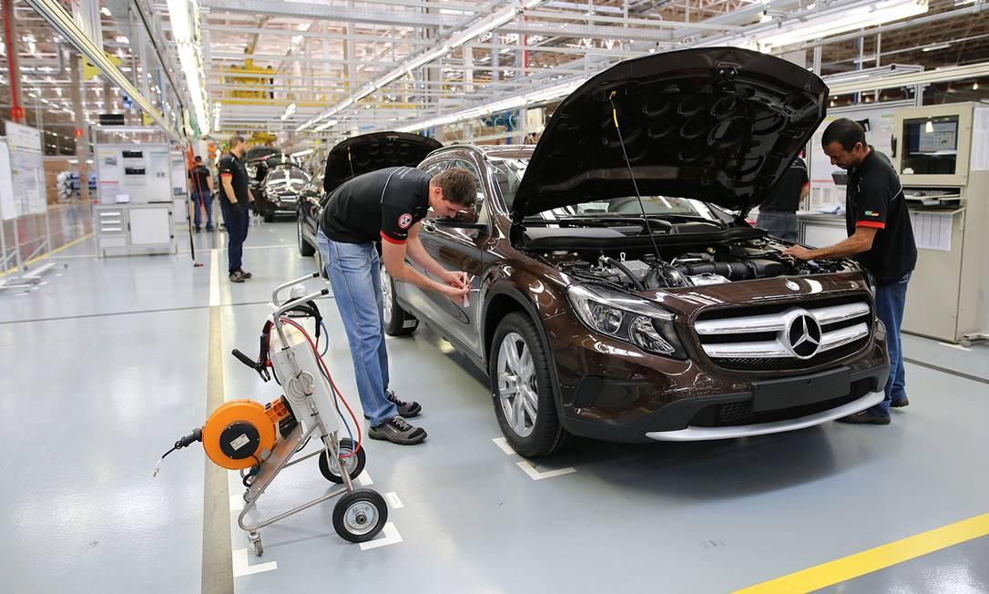O utilitário GLA passando pelas últimas verificações na fábrica da Mercedes em Iracemápolis, em 2017 Foto: Divulgação