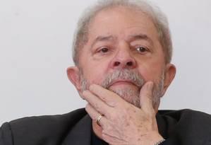 O ex-presidente Luiz Inácio Lula da Silva, durante evento do PT em São Bernardo (20/05/2017) Foto: Marcos Alves / Agência O Globo