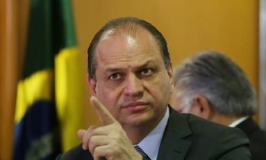 Ministro da Saúde, Ricardo Barros Foto: Michel Filho / Agência O Globo