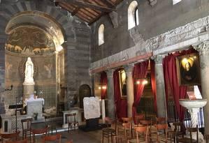 O interior da igreja de Santa Maria em Cappella, onde as relíquias foram encontradas Foto: TRIPADVISER