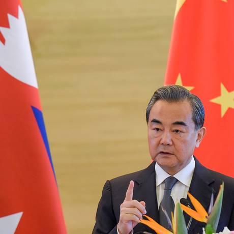 Wang Yi, ministro de relações exteriores da China Foto: POOL / REUTERS