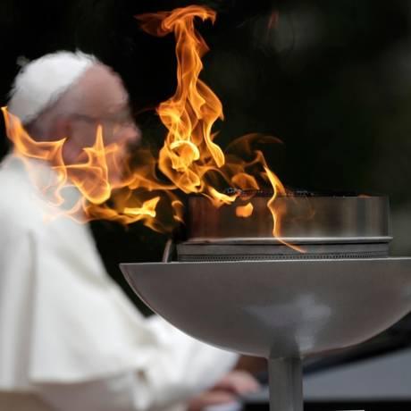 Papa pediu para que bispos tenham coragem na busca pela reconciliação Foto: Andrew Medichini/AP