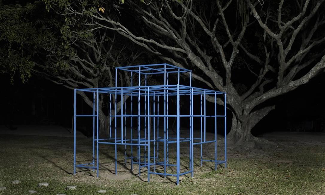 """Série """"Parques"""", de Rogério Faissal (2015). Para esta obra, o artista utilizou pigmento mineral sobre papel fotográfico. Foto: Rogério Faissal / Divulgação"""