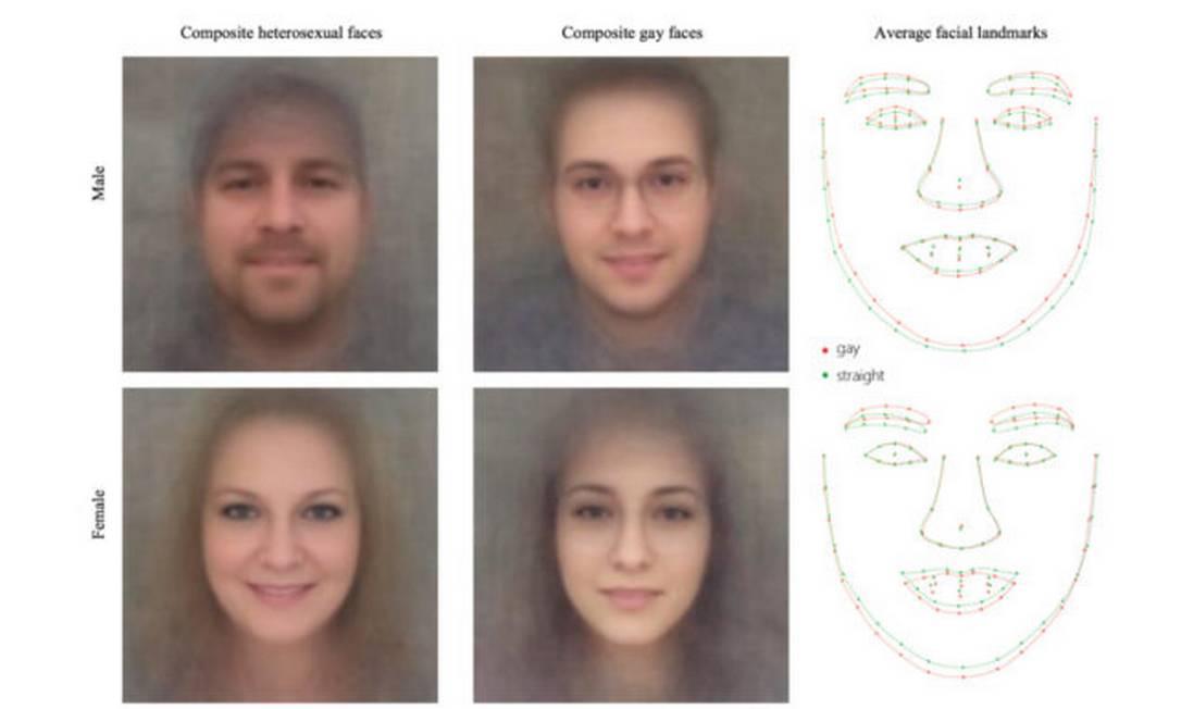 Algoritmo detecta traços faciais para revelar orientação sexual Foto: / REPRODUÇÃO/Universidade Stanford