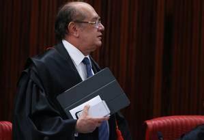 O ministro do STF Gilmar Mendes Foto: Ailton de Freitas / Agência O Globo 24/08/2017