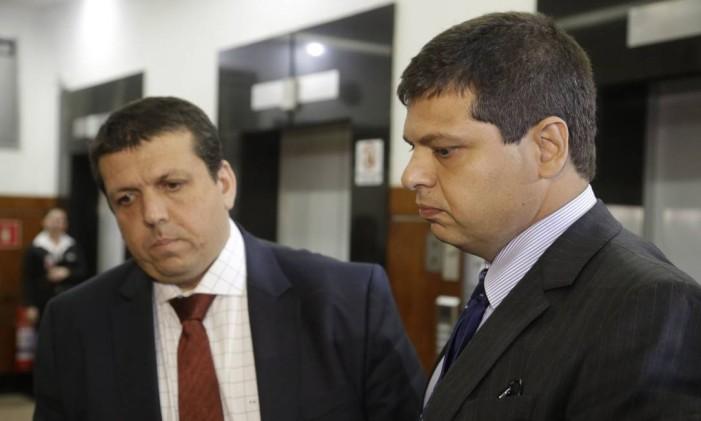 Depoimento de Marcello Miller (gravata azul) no MPF sobre o envolvimento nas delações premiadas do irmãos Batista. - 08/09/2017 Foto: Fabio Guimarães / Agência O Globo