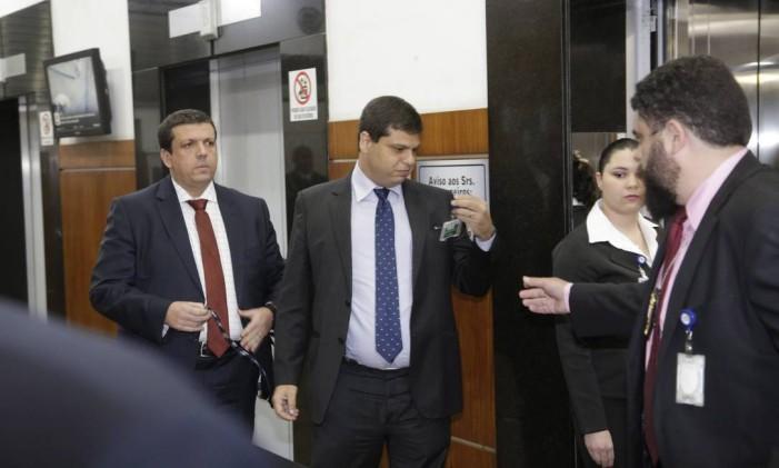 Depoimento de Marcello Miller (gravata azul) no MPF sobre o envolvimento nas delações premiadas dos irmãos Batista.- 08/09/2017 Foto: Fabio Guimarães / Agência O Globo