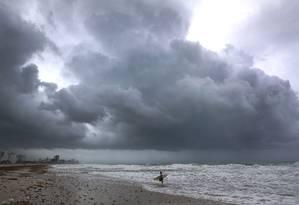O furacão Irma se aproxima da Flórida Foto: JOE RAEDLE / AFP