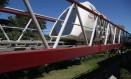 Em teste. O Maglev-Cobra na linha experimental, que circula às terças-feiras no Fundão Foto: Custódio Coimbra / custodio coimbra