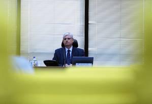 O procurador-geral da República, Rodrigo Janot, preside reunião do conselho do MPF na PGR Foto: Jorge William / Agência O Globo
