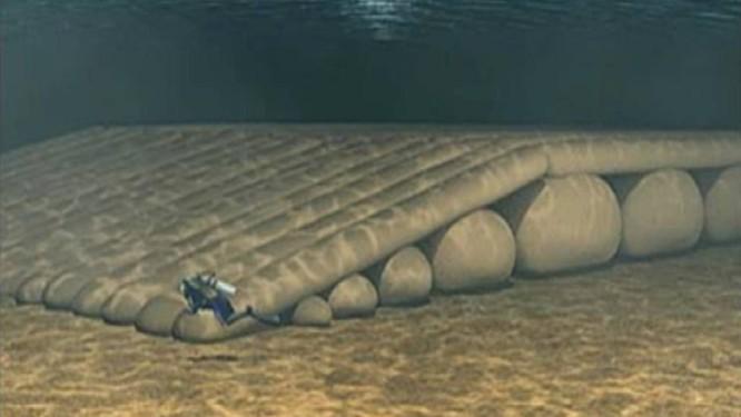 No fundo do mar. Simulação mostra como seria a estrutura dos recifes Foto: Reprodução