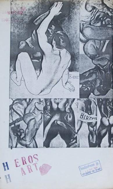 O Santander Cultural cancelou a exposição 'Queermuseu — Cartografias da diferença na arte brasileira', em Porto Alegre, no Rio Grande do Sul, após protestos contra a mostra na instituição e nas redes sociais. Agora, o Parque Lage, no Rio, faz financiamento coletivo para montá-la. Na foto, obra de Hudinilson Jr (1957-2013). Divulgação