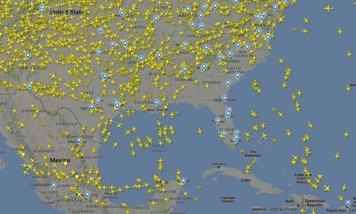 Voos em curso nos EUA – ReproduçãoAtingidos pela tempestade tropical Irma os aeroportos internacion